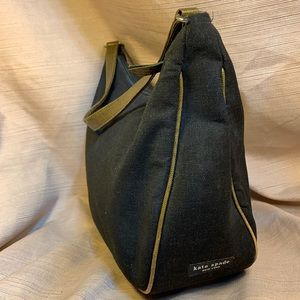 Kate Spade 90s Vintage leather/canvas shoulder bag